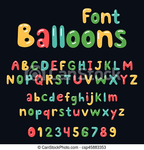 Colorful Bubble Alphabet Set