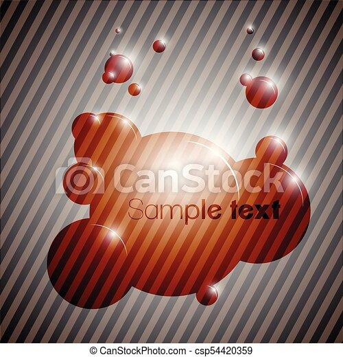 Colorful bubble background eps10 vector - csp54420359