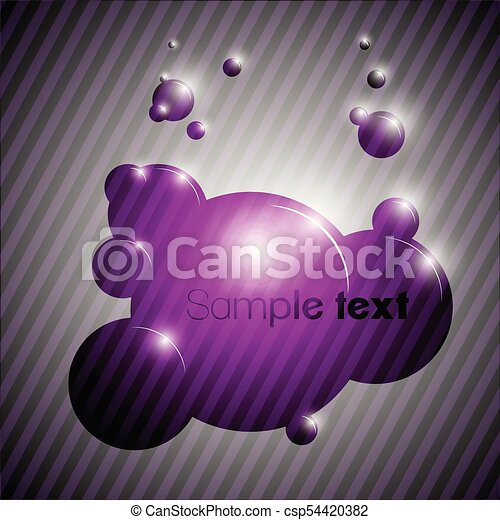 Colorful bubble background eps10 vector - csp54420382