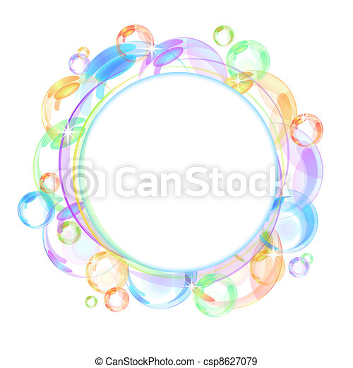Colorful bubble vector background - csp8627079