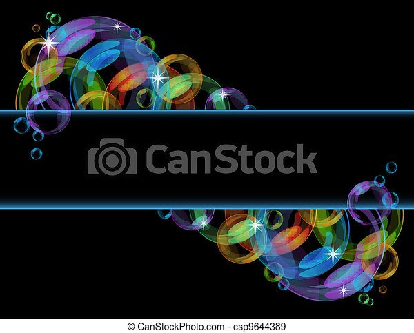 Colorful bubble vector background - csp9644389