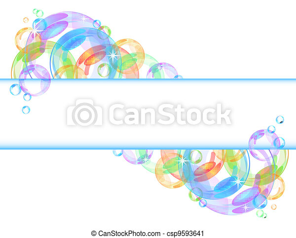 Colorful bubble vector background - csp9593641