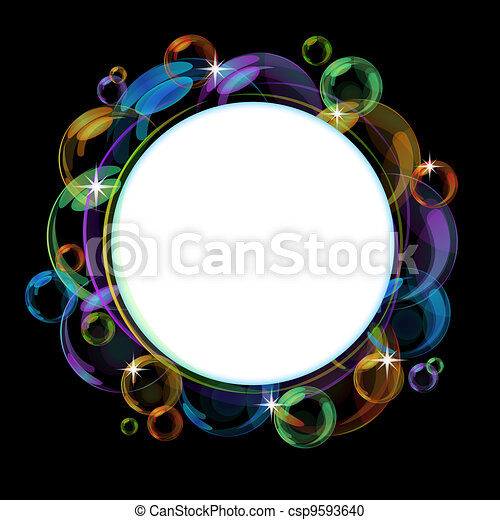 Colorful bubble vector background - csp9593640