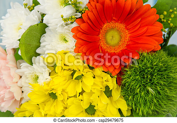 colorful bunch of flowers - csp29479675