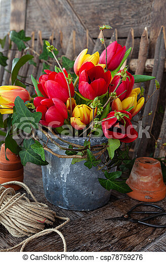 Colorful bunch of flowers - csp78759276