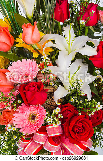 Colorful Bunch of flowers - csp26929681