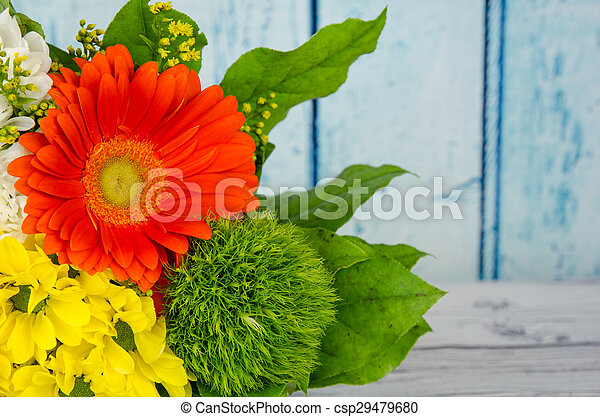 colorful bunch of flowers - csp29479680