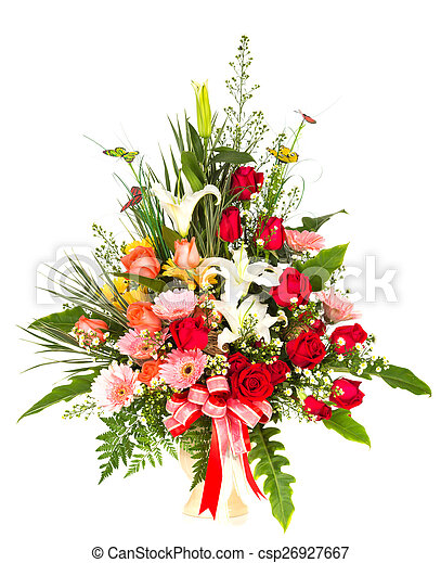 Colorful Bunch of flowers - csp26927667