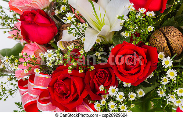 Colorful Bunch of flowers - csp26929624