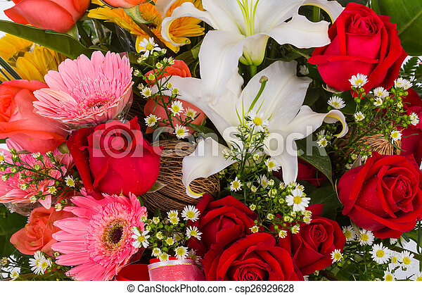 Colorful Bunch of flowers - csp26929628