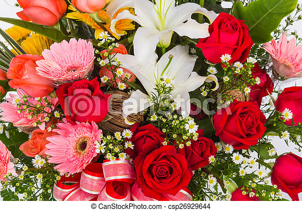 Colorful Bunch of flowers - csp26929644