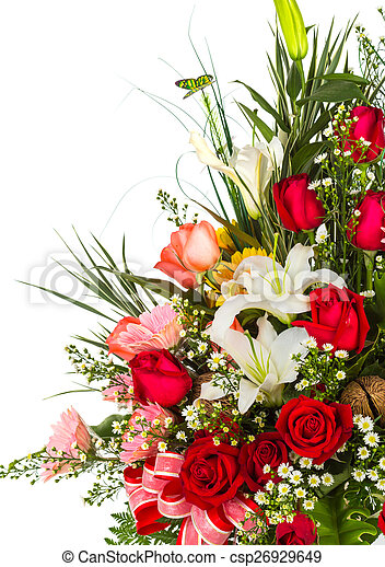 Colorful Bunch of flowers - csp26929649