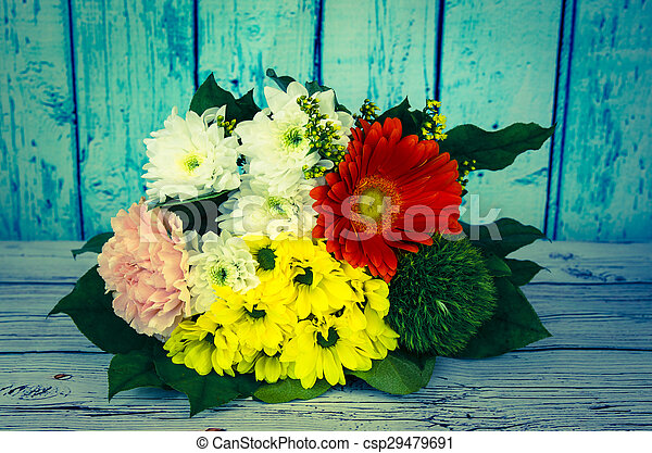 colorful bunch of flowers - csp29479691