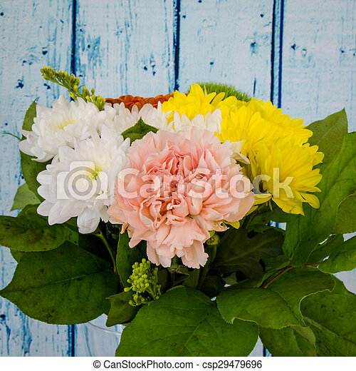 colorful bunch of flowers - csp29479696
