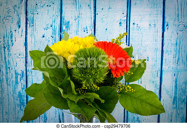 colorful bunch of flowers - csp29479706