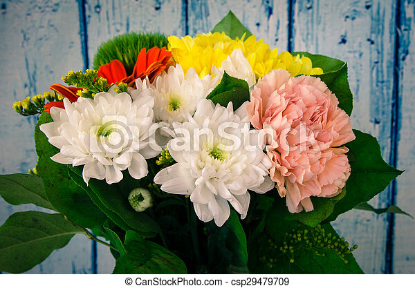 colorful bunch of flowers - csp29479709