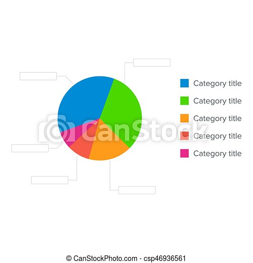 Colorful Business Pie Chart For Graphic Design Documents Reports