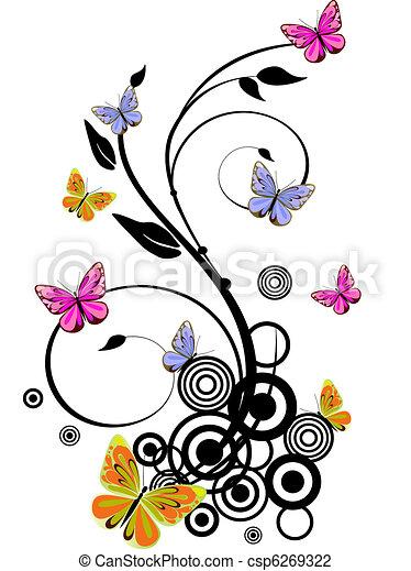 colorful butterflies - csp6269322