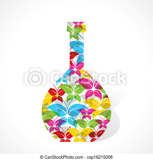Colorful butterfly make flower pot - csp16215008