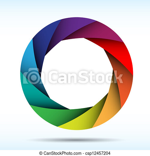 Colorful camera shutter background,Illustration eps10 - csp12457204