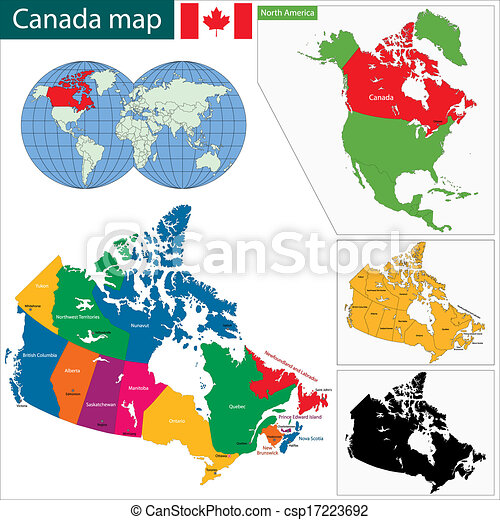 colorful canada map csp17223692