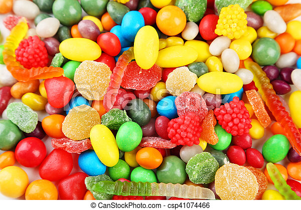 Colorful candies background - csp41074466