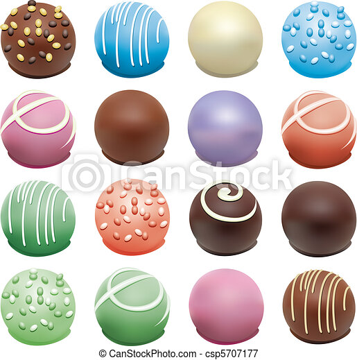 colorful candies - csp5707177