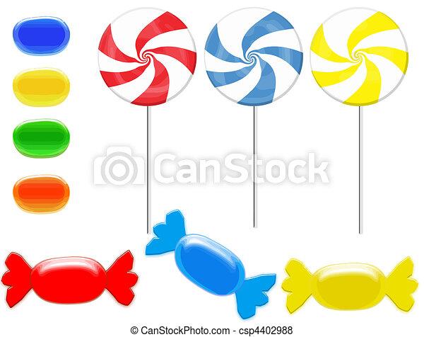 colorful candies set - csp4402988