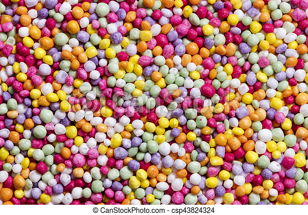 Colorful Candy Sprinkles Full Frame Background