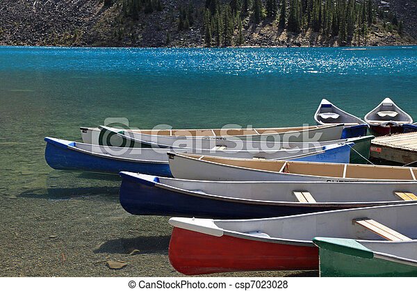 Colorful canoes - csp7023028