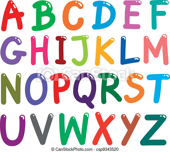 colorful capital letters alphabet illustration of colorful capital rh canstockphoto com clipart letters of the alphabet free clipart letters ofthe alphabet cartoon