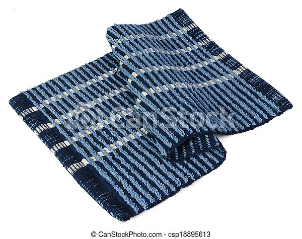 Colorful carpet or doormat for cleaning feet - csp18895613