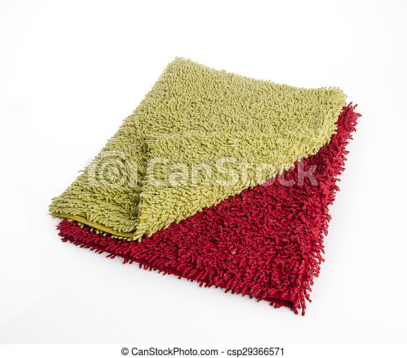 Colorful carpet or doormat for cleaning feet - csp29366571