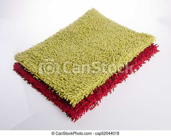 Colorful carpet or doormat for cleaning feet - csp52044018