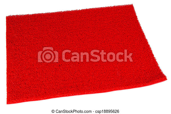 Colorful carpet or doormat for cleaning feet - csp18895626