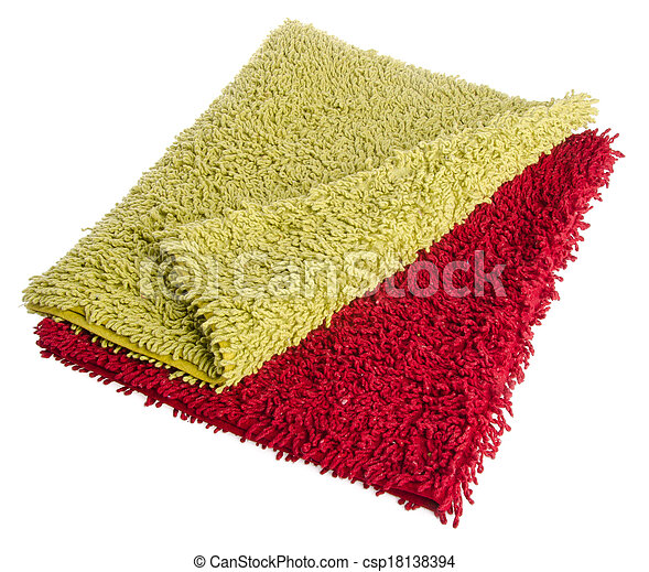 Colorful carpet or doormat for cleaning feet - csp18138394