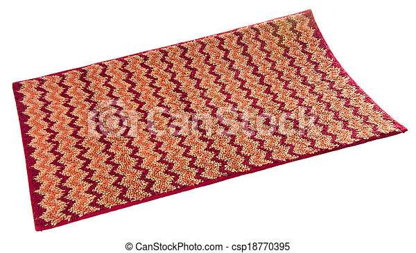 Colorful carpet or doormat for cleaning feet - csp18770395