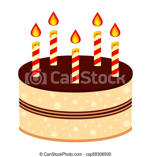 Admirable Colorful Cartoon Birthday Cake 5 Candles Colorful Cartoon Cake Funny Birthday Cards Online Elaedamsfinfo