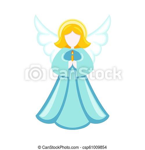 Christmas Angel.Colorful Cartoon Christmas Angel