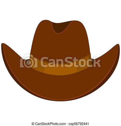 Colorful cartoon cowboy hat - csp56792441