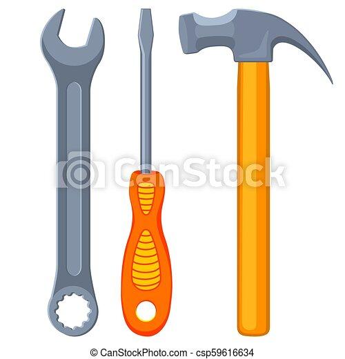 Colorful cartoon toolkit set - csp59616634