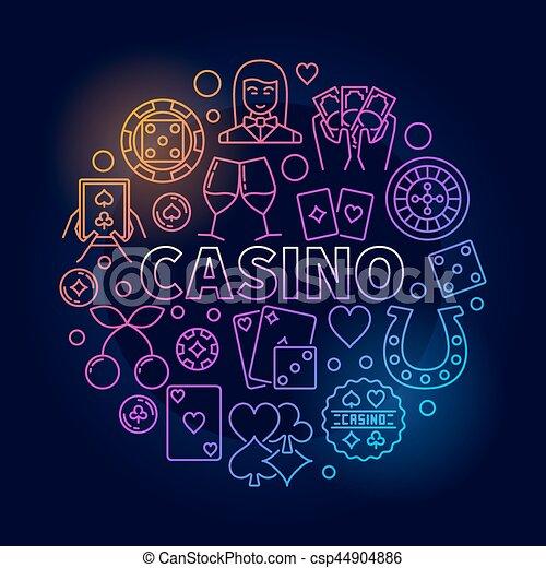 Colorful casino round illustration - csp44904886