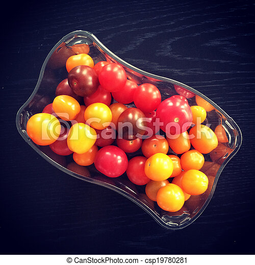 Colorful cherry tomatoes - csp19780281