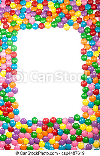 Colorful Chocolate Candy Frame - csp4487619