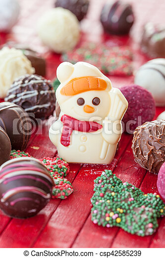 Colorful chocolate for christmas - csp42585239