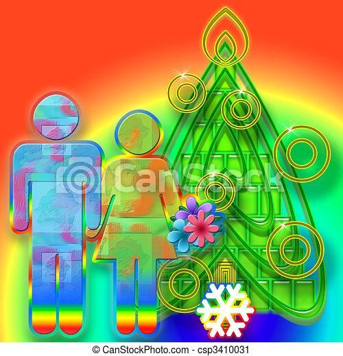 Colorful Christmas - csp3410031