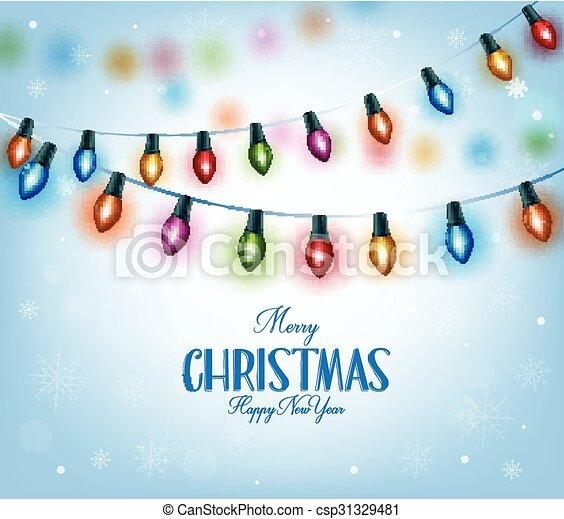 Colorful Christmas Lights - csp31329481