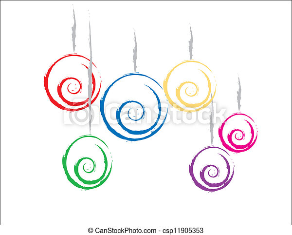 Colorful Christmas Ornaments Simple Design Of Some