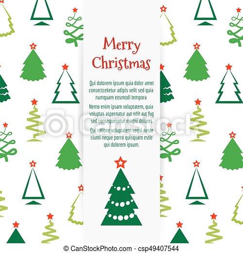 Colorful Christmas Tree Vector.Colorful Christmas Tree Banner Design
