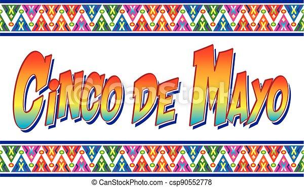 Colorful Cinco de Mayo Banner - csp90552778